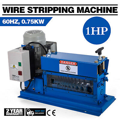 Portable Powered Electric Wire Stripping Machine Comercial 1HP Cable Stripper