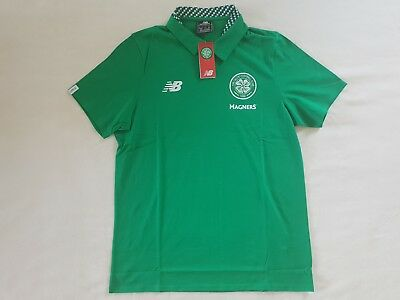 Celtic Glasgow Polo Shirt New Balance 2017/18 Größe M L -NEU-