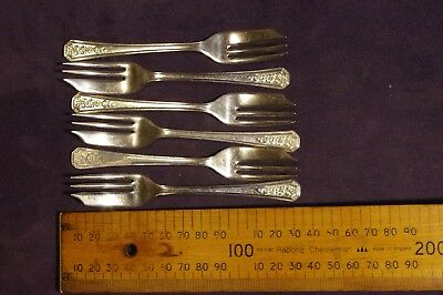 Antique silverware cake forks