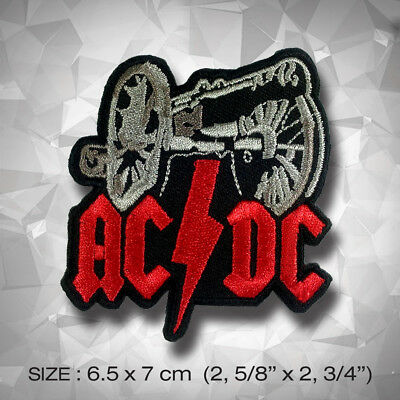 AC/DC Embroidered Patches, Rock N Roll Style, Clothes Decorate Handmade Music