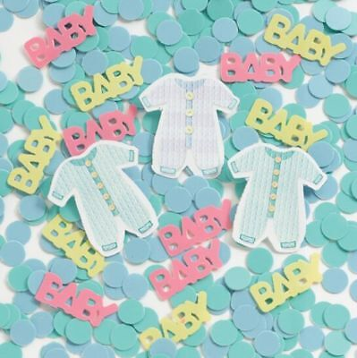 ** 14g BABY CLOTHES PRINTED CONFETTI  BOYS GIRLS BABY SHOWER PARTY NEW