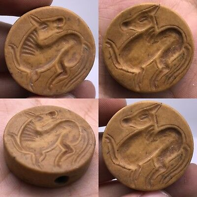 Medieval Antique intaglio Stone Old both side have carving Amulet