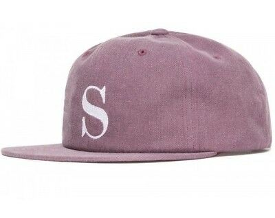 341acc550d6 STUSSY S LOGO Pigment Strapback Cap Red White New With Tags 131767R -   29.99