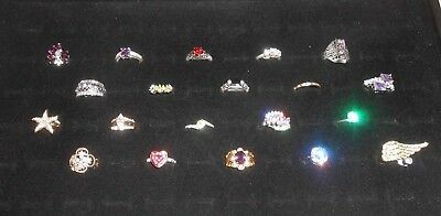 Wholesale LOT of 20 Quality Costume Jewelry Fashion Rings Gold Silver Tone Sz 7
