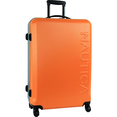 "Nautica Ahoy Hardside Spinner Orange Silver 28"" Wheeled Suitcase"