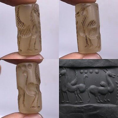 Ancient Crystal  Intaglio Stone Rare wonderful BEAD