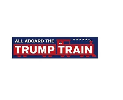 All Aboard The Donald Trump Train President Bumper Sticker