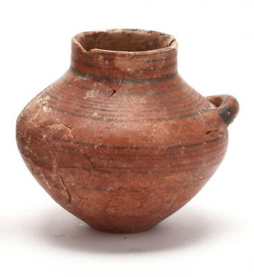 Authentic Antiquity Cypro-Geometric Red Ware Jar 1000-700 B.C.