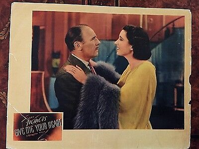 Give Me Your Heart 1936 Original Lobby Card - Kay Francis