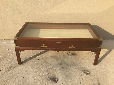 Vintage/Antique Glass Top Display Coffee Table Very Rare