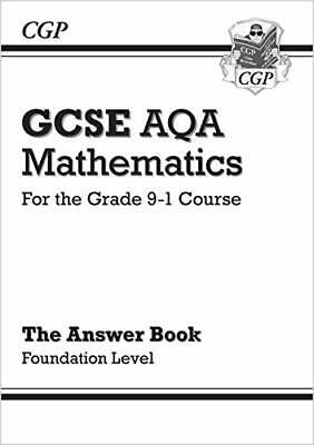 GCSE Maths AQA Answers for Workbook: Foundation  by CGP Books New Paperback Book