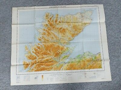 ORDNANCE SURVEY MAP quarter inch 5th series 1965 NORTHERN SCOTLAND MAP 3