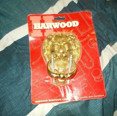 Vintage Lion Head Brass Door Knocker Old Stock Sealed New In Package Harwood
