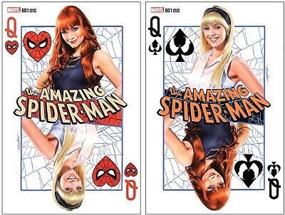 AMAZING SPIDER-MAN #801 KRS Comic Signed Mike Mayhew Variant Set