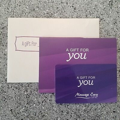 $75 MASSAGE ENVY Gift Card with Envelope Fast Free Shipping ...
