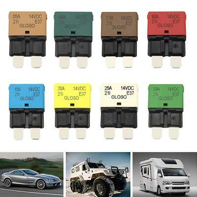5-30A Manual Reset Circuit Breaker Blade Fuse For Auto Car Boat Truck DC 28V