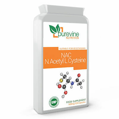 NAC N-Acetyl Cysteine 600 mg 120 Capsules | Powerful Antioxidant Support | Live