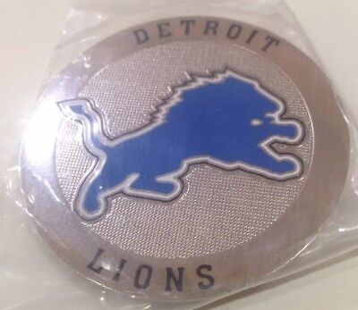 Detroit Lions metal Round Logo Poker Cards Protector