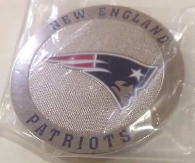New England Patriots metal Round Logo Poker Cards Protector