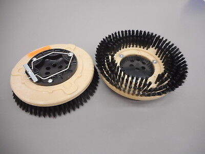 "Set (2) Tennant Nobles 1025095 SS5 12"" Floor Scrubber Poly Brushes .030"