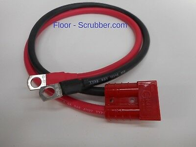 "Battery Charger Cord 4GA 24"" with SB50 Red Plug 24v Floor Scrubber"