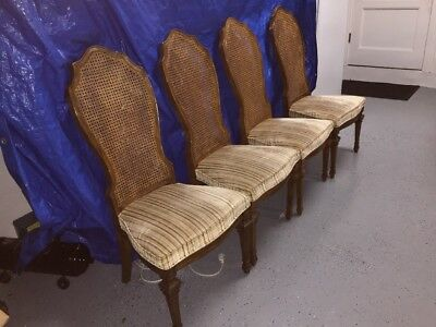 BERNHARDT French Regency Style Cane Back Dining Side Chair Authentic