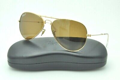 a7469873115 Ray Ban RB 3479 Folding Aviator Sunglasses 001 51 Gold   Brown Polarized  58mm