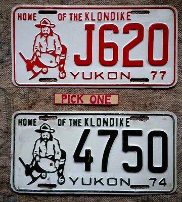 YUKON License Plate Tag - 1974 or 1977 - PICK ONE- Low Shipping
