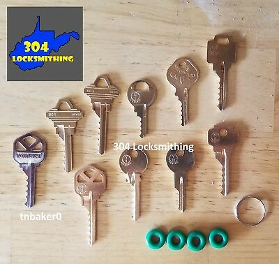 Professional 10 key Depth Key Set with bump rings
