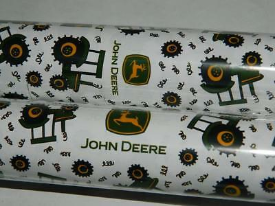 John Deere Wrapping Paper Gift Wrap Tractors Logo 2 Rolls 24sq ft Xmas Birthday