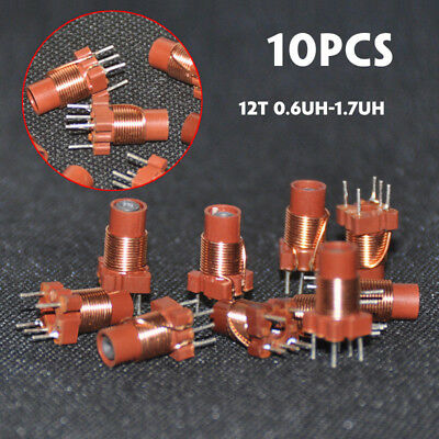 10Pcs Adjustable High-Frequency Ferrite Core Inductor Coil 12T 0.6uh-1.7uh 3.6mm