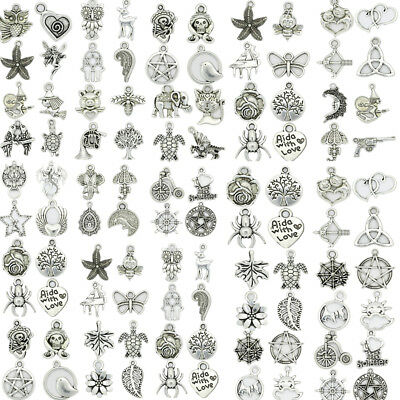 Hot Fashion Antique Silver Beautiful Charms Pendant Carfts DIY Jewelry Making J