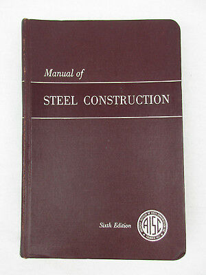 Aisc manual of steel construction allowable stress 5795 picclick manual of steel construction by aisc six edition vintage textbook fandeluxe Images
