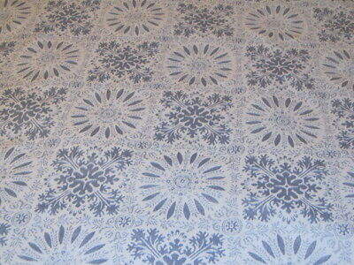 Christmas Tablecloth Martha Stewart Blue Silver Cutter for Project  99x54  #225