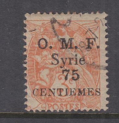 SYRIA, 1920, 75 Centiemes on 3c. Orange, used.