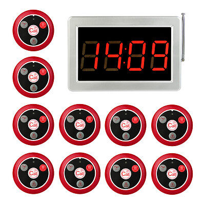 Restaurant Button Pagers Wireless Guest Waiter Calling Paging Queuing System
