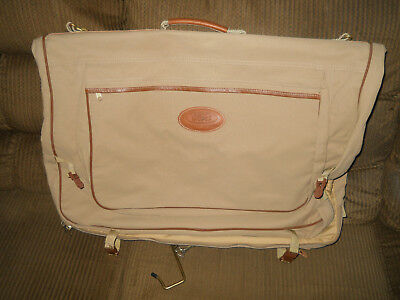 b0f3d9dba8 Ford Eddie Bauer Limited Edition Travel Bag vintage canvas leather suit  luggage