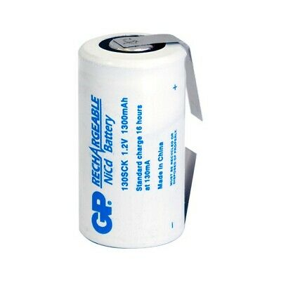 1300Mah 1.2V Nicad Sub C With Tags Rechargeable Battery Gp