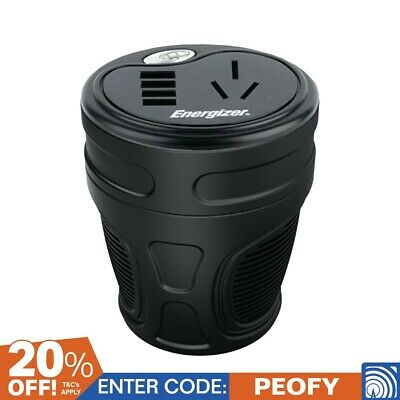ENERGIZER 150W Cup Power Inverter 4 X USB Charging Ports Ena200