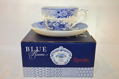 Spode Blue Room Blue Rose Jumbo 20 oz Breakfast Cup & Saucer - Boxed