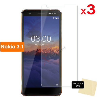 3 Pack of CLEAR LCD Screen Protector Guard Covers for Nokia 3.1 (Nokia 3 2018)