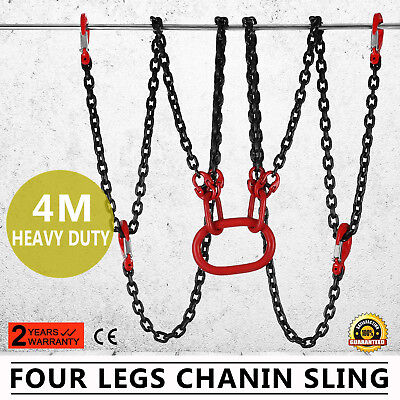 "157"" Four Legs Lifting Chain Sling Alloy Steel Sling Hook Adjuster Top"