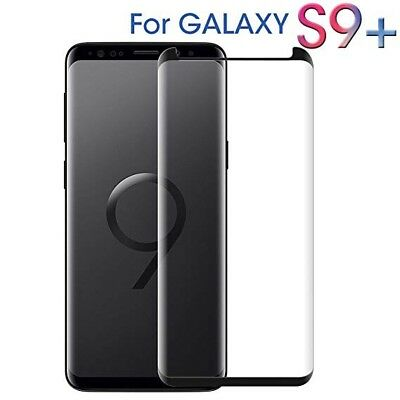For Samsung Galaxy S9 Plus Black - 100% Genuine Tempered Glass Screen Protector