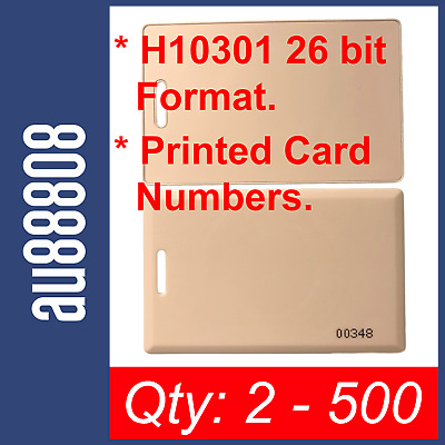 CLAMSHELL PROXIMITY CARDS WORKS WITH HID ISOProx 1326 1386 H10301 KEY RING HOLE