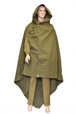 Soviet army cloak tent soldier military poncho hooded raincoat ussr