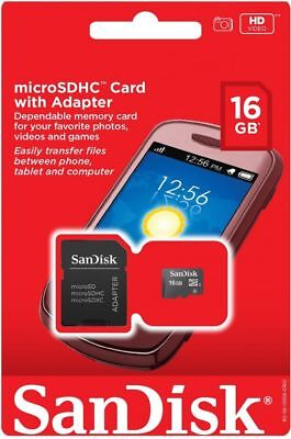 SanDisk 8GB 16GB 32GB Micro SD HC Class 4 TF Flash SDHC Memory Card w/ Adapter*
