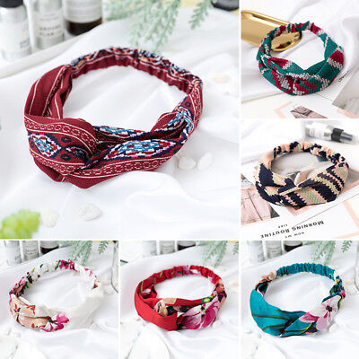 Women Turban Twist Knot Head Wrap Headband Twisted Knotted Hair Band Lovely