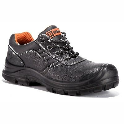 Mens Leather Metal Free Ultra Lightweight Toe Cap Trainer Ankle Hiker Work Shoes