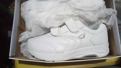 Instride Newport Strap Leather White Womens Shoes Orthopedic Diabetic New