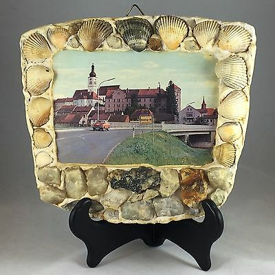 Vintage Picture of Neunburg in a Sea Shell Frame
